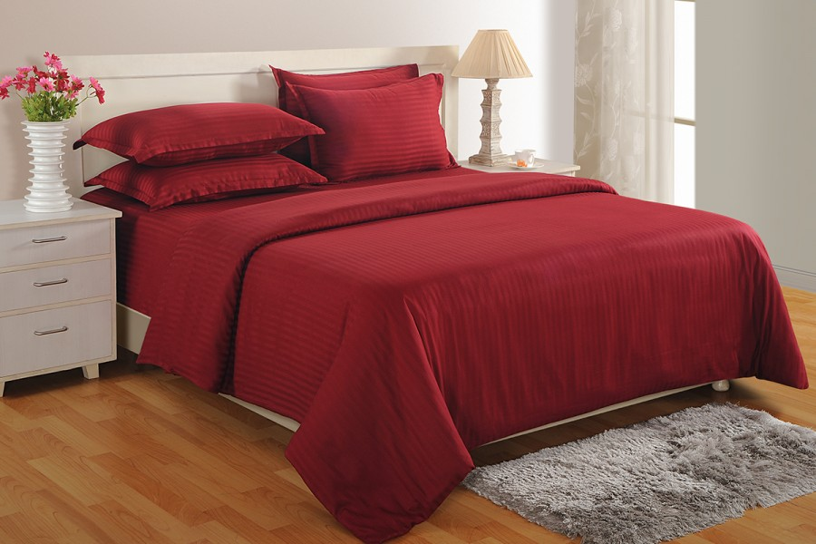 Buy Maroon 300 Tc Cotton Duvet Cover At Online Shopping