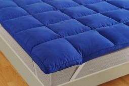 BLUE MATTRESS TOPPER