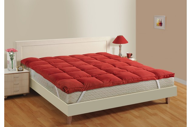 RED MATTRESS TOPPER