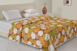GREEN & YELLOW FLORAL DOHAR