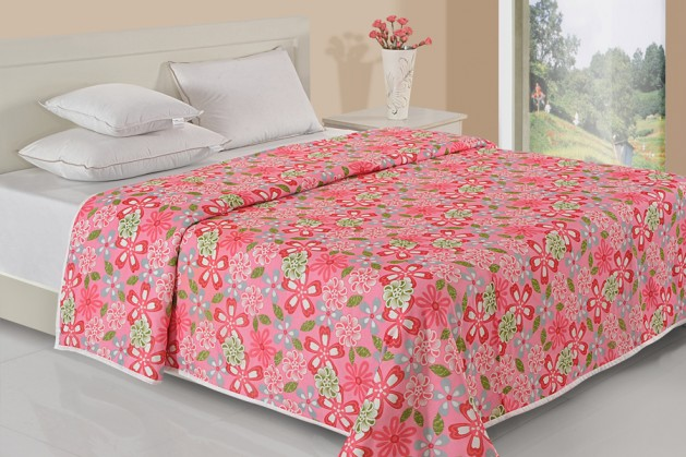HOT PINK FLORAL DOHAR ( Temporary Out of Stock )