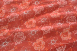 HOT RED FLORAL DOHAR