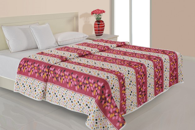 MULTI COLOR DOHAR MAROON FLORAL ( Temporary Out of Stock )