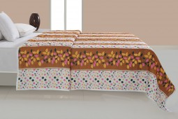 MULTI COLOR DOHAR DARK YELLOW FLORAL ( Temporary Out of Stock )