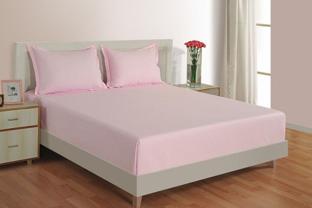 PINK 300 TC BED SHEET