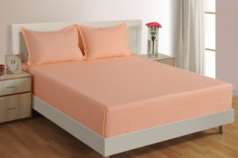 PEACH 300 TC BED SHEET