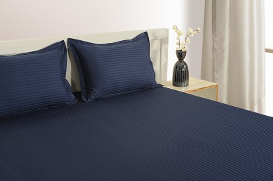 NAVY BLUE 300 TC BED SHEET