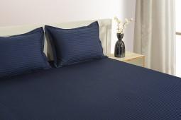 NAVY BLUE 300 TC BED SHEET