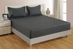 GREY BLACK 300 TC BED SHEET