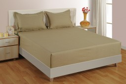 BEIGE 300 TC BED SHEET