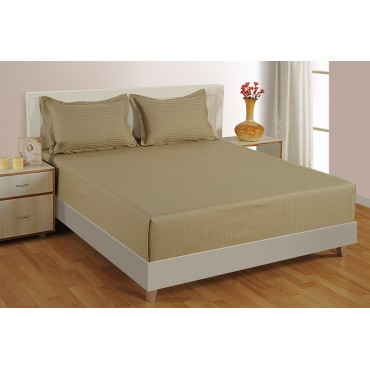 BEIGE 300 TC BED SHEET