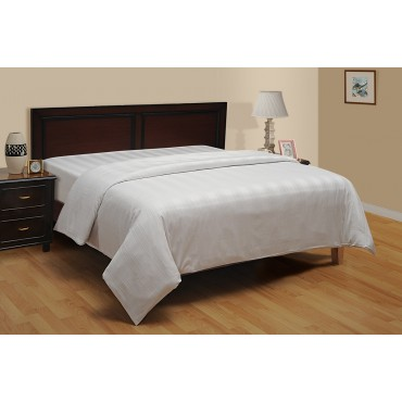 WHITE 300 TC MULTI STRIPE DUVET COVER