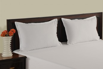 WHITE PLAIN PILLOW COVER
