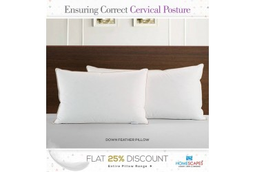 Feel Complete Comfort & Sound Sleep With Quality Down Feather Pillows